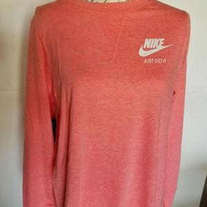 Nike long sleeve dress casual M coral NWT